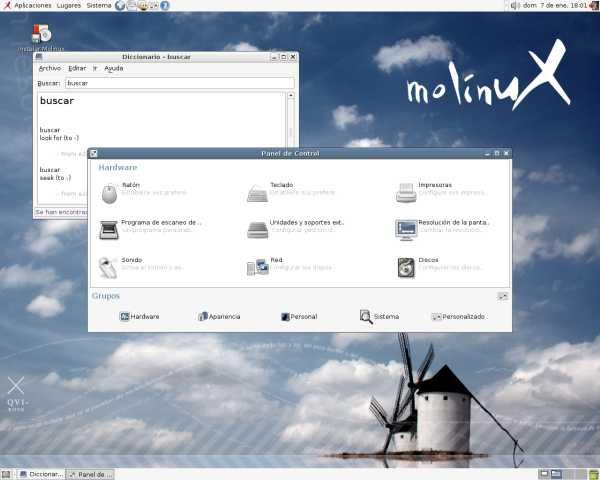 Molinux desktop 2